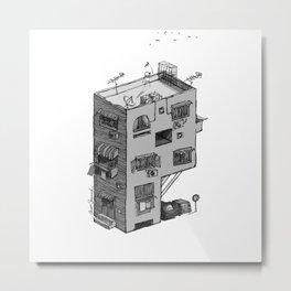 P - Alphabet Town Metal Print