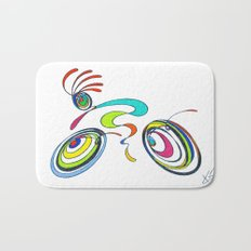 Bicycle - Kokopelli rides again Bath Mat
