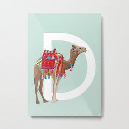D - Dromedary Metal Print