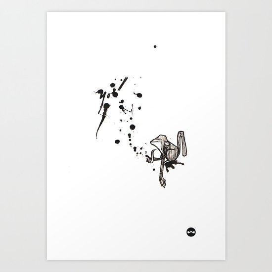 Pensive Primate. Art Print