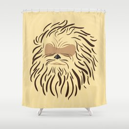 Portrait of Chewbacca Shower Curtain
