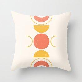 Mid Century Sunset Shapes Throw Pillow
