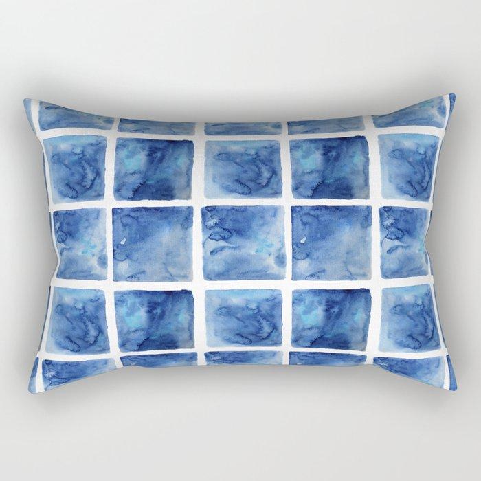 Watercolor mosaic Rectangular Pillow