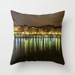 Lights of Lyon Throw Pillow