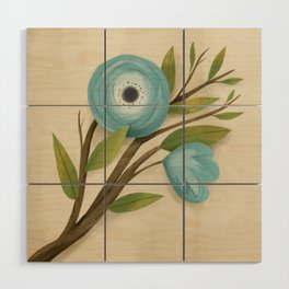 Botanica Blue Wood Wall Art