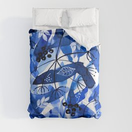 Blue and White Hedgerow Comforters