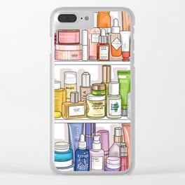 Rainbow Shelfie Clear iPhone Case