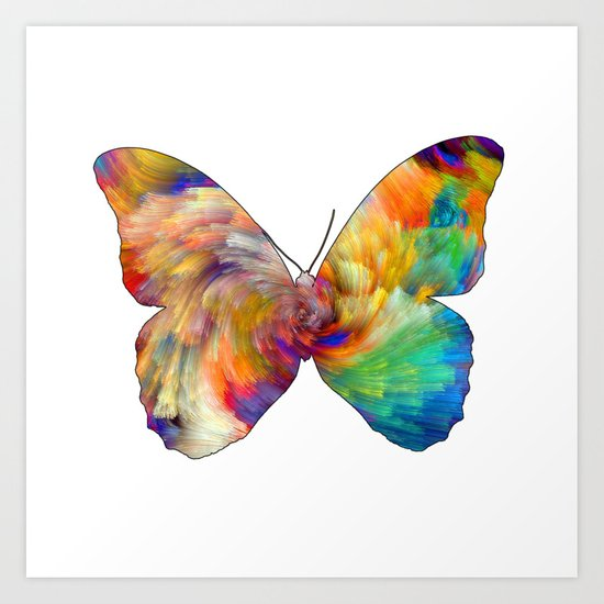 Mesmering Butterfly Art Print