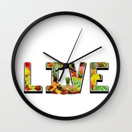 Fruits Healthy-food Seedless Plants  Flower Gift Wall Clock
