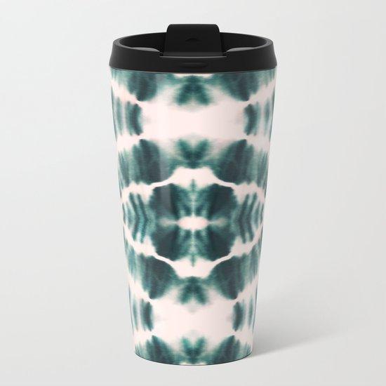 BOHEMIAN EMERALD SHIBORI Metal Travel Mug