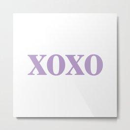 Lavender XOXO Metal Print
