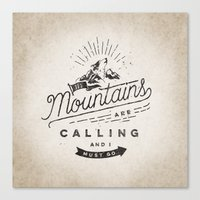 mountains Canvas Prints featuring Mountains by Seaside Spirit