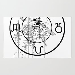 Nature O'clock Rug
