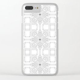 Geometric Pattern 1 Clear iPhone Case