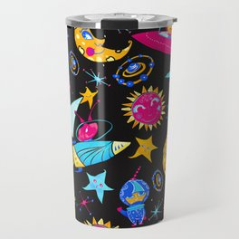 Orbital - Pink   Blue   Yellow Travel Mug
