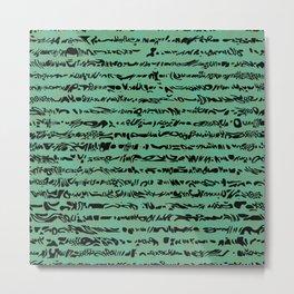 Green stripes Metal Print