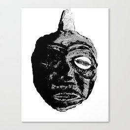 Mask with the Seashell Eye Canvas Print