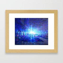 Blue Reflecting Tunnel Framed Art Print