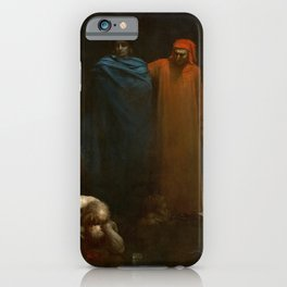 Gustave Doré - Dante And Virgil In The Ninth Circle Of Hell iPhone Case