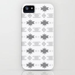 Southwestern Pattern Gray Cream iPhone Case