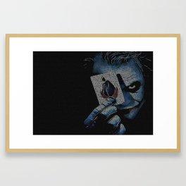 Text Portrait of Heath Ledger as Joker Framed Art Print