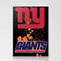 giants Stationery Cards featuring ny giants by Dan Solo Galleries