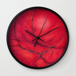 Red Jasper Mineral Wall Clock