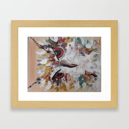 OWL ABOUT ME Framed Art Print