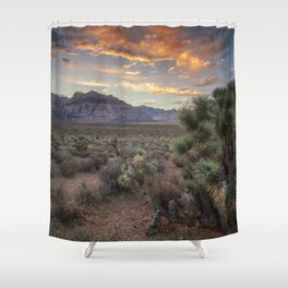Fiery Clouds Over Red Rock Shower Curtain