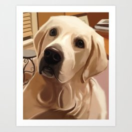 Tucker Dog Portrait Art Print