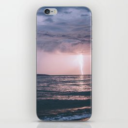 Lightning over the Strait of Georgia iPhone Skin