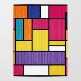 Mondrian Bauhaus Pattern #11 Poster