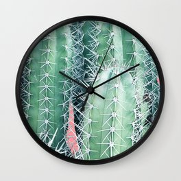 Cactus Up Close #society6 #decor #buyart Wall Clock