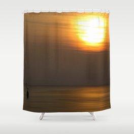 Lone Figure Shower Curtain