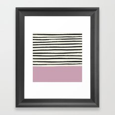 Dusty Rose & Stripes Framed Art Print