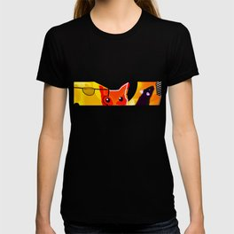 CAT AND MICE OVER A CHEESE T-shirt