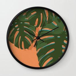 Tropical Plant III Wall Clock