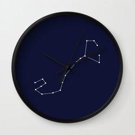 Scorpio Star Sign Deep Blue Wall Clock