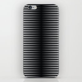 op art - horizontal triangles iPhone Skin