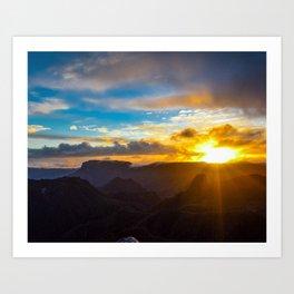 Coromanel Sunset Art Print