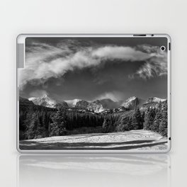 Rocky Mountan Park in Black and White Laptop & iPad Skin