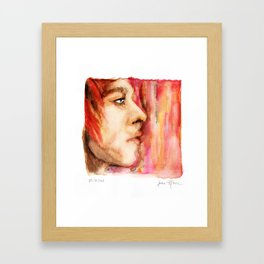 The Man Who Sold the World, Bowie portrait by Ines Zgonc Framed Art Print