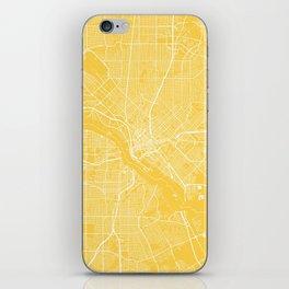 Dallas map yellow iPhone Skin