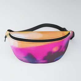summer sunset sky with colorful bokeh light abstract background Fanny Pack