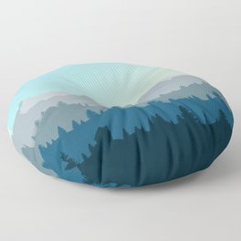 Face This Mountain (No Text) Floor Pillow
