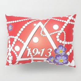 Crimson and Pearls Pillow Sham