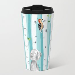 WEIMARANER AND WOODPECKERS Travel Mug