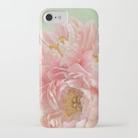 peonies iPhone & iPod Cases featuring Peonies by Lizzy Pe