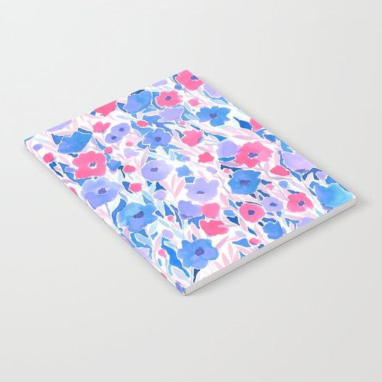 Flower Field Lilac Blue Notebook