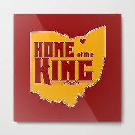 Home of the King (Red) Metal Print